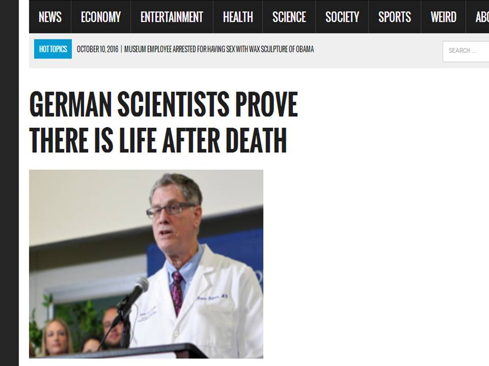Deutsche Forscher beweisen: Es gibt ein Leben nach dem Tod ...