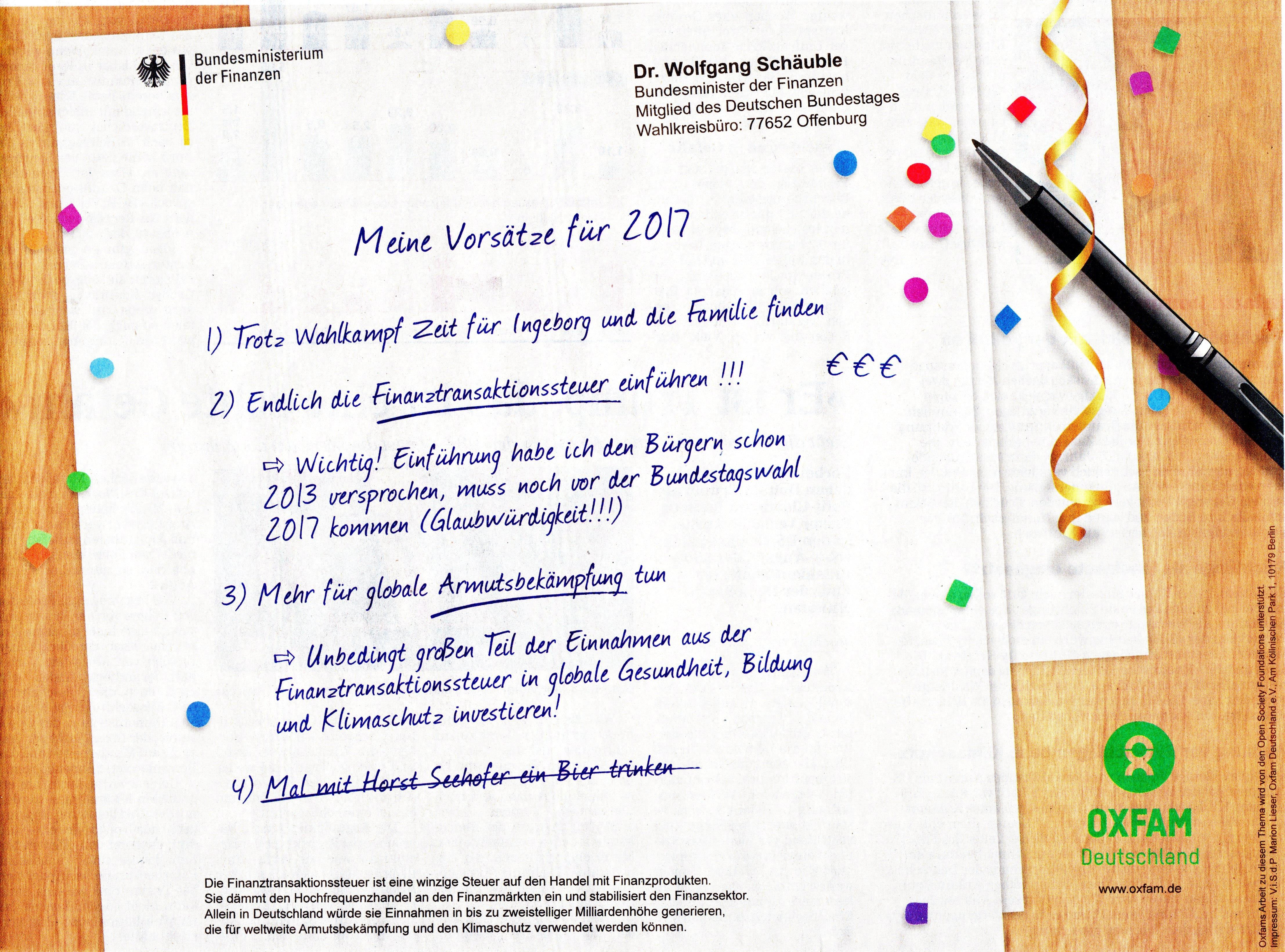 Schäuble und Oxfam: Neues Jahr – Gleiche Manipulation – ScienceFiles